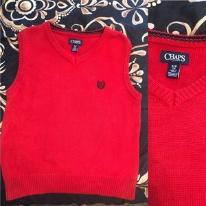 Red Chaps by Ralph Lauren Sweater Vest ( Boys 6)